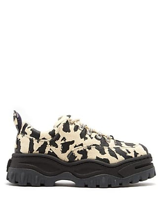 Eytys Angel Exaggerated Sole Leather Trainers - Womens - Leopard