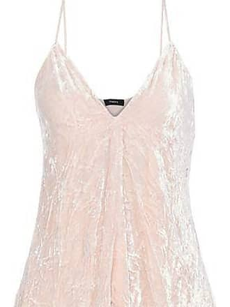 641bc49d4d Theory Theory Woman Kensington Draped Crinkled-velvet Camisole Pastel Pink  Size XS