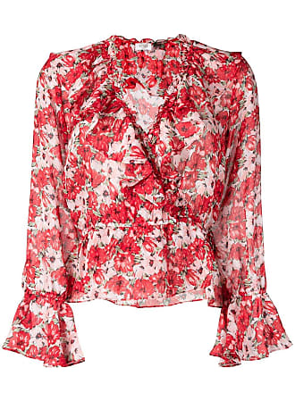 Rixo Diana blouse - Vermelho