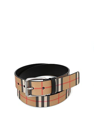 8c8183bb11a3 Burberry Mark35 Vintage check black leather belt