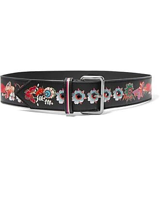 Etro Printed Leather Waist Belt - Black