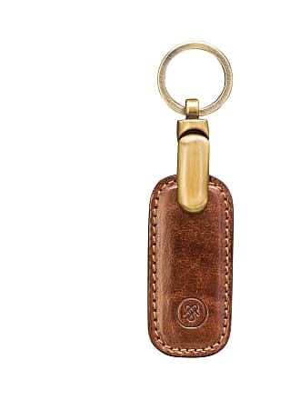Maxwell Scott Maxwell Scott - Luxury Top Quality Leather Key Ring In Tan