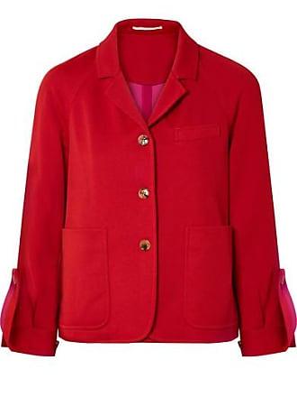 Golden Goose Striped Cotton-blend Satin Blazer - Red