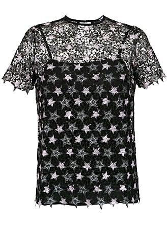 Pop Up Store Blusa de tela com bordado - Preto