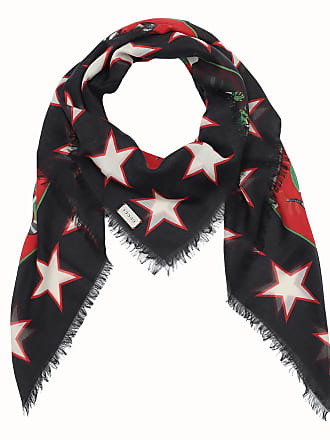 642d7ae506c4b Gucci Modal Shawl Print Tigers and Snakes Black Red Accessoire schwarz