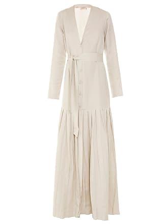 Adriana Degreas Vestido robe longo com pregas - Bege