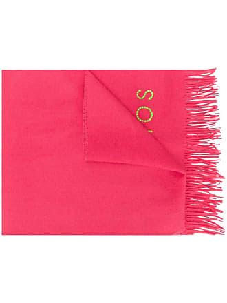 Acne Studios Cachecol de lã com logo - Rosa