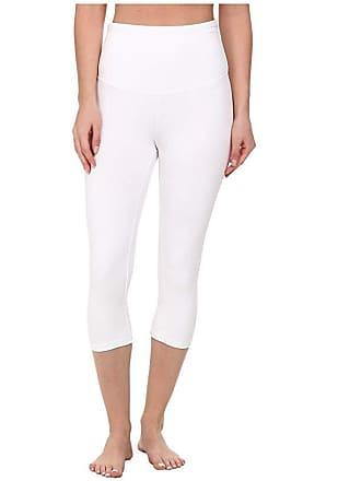 Yummie Tummie Talia Capri Cotton Shaping Legging (White) Womens Casual Pants