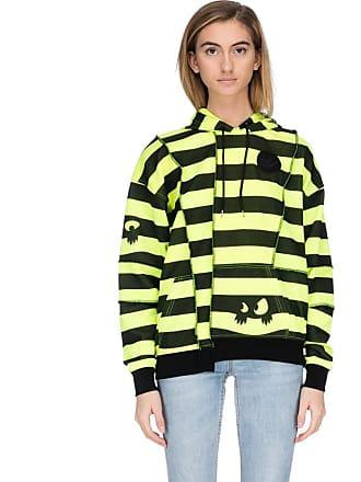 McQ by Alexander McQueen Monster Stripe Reverse Seam Hoodie - Neon Yellow  Black 6512b0c1af3