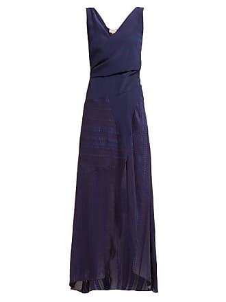 Zeus + Dione Erato Silk Wrap Maxi Dress - Womens - Navy