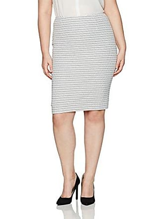 668825af02 Kasper Womens Plus Size Stripe Knit Jacquard Skirt, Ivory/Black, 24W