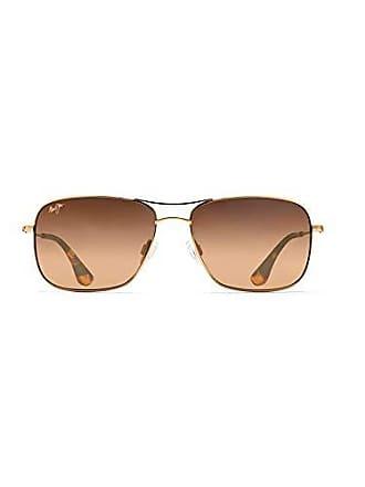 1aef72bfe3 Maui Jim HS246-16 Gold HCL Bronze Lens Wiki Wiki Aviator Sunglasses  Polarised