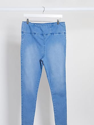 Urban Bliss super stretch pull on skinny jeans in blue