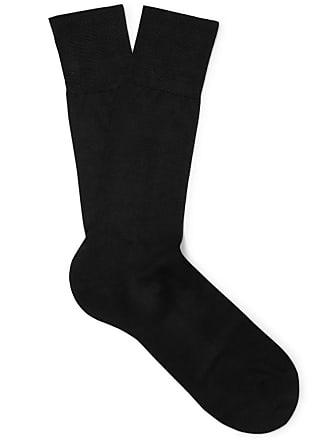 Falke No. 4 Silk-blend Socks - Black