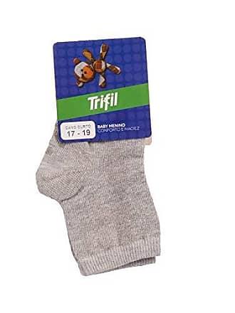 Trifil Meia Trifil Bebê Basica Antiderrapante Mescla 17-19