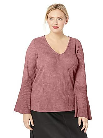 Lucky Brand Womens Plus Size Waffle Thermal TOP, Dark Mauve, 2X