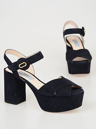 6bb78a9a748 Prada Suede Sandals with Plateau 9 cm size 36