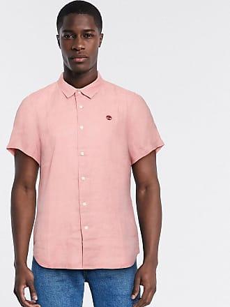 Timberland mill river linen short sleeve shirt-Pink