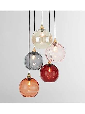 MADE.COM Ilaria Cluster-Pendelleuchte, Messing und mehrfarbiges Glas