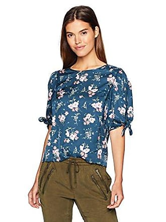 923f90ff627d73 Rebecca Taylor Womens Short Floral tie Sleeve top, Teal Combo, 10