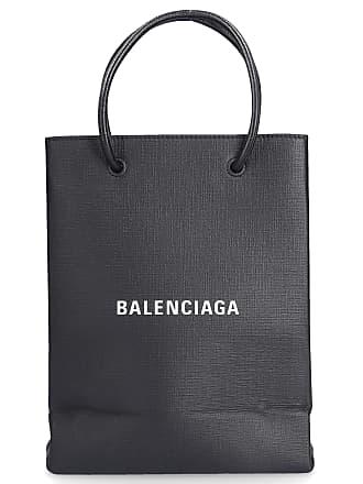 Balenciaga Handbag Shoulder bag leather grained logo black