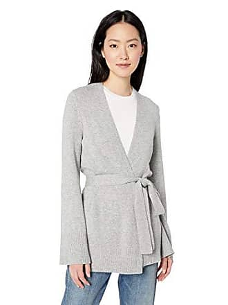 Daily Ritual Womens Long-Line Open-Front Cardigan Sweater, light heather grey, Medium