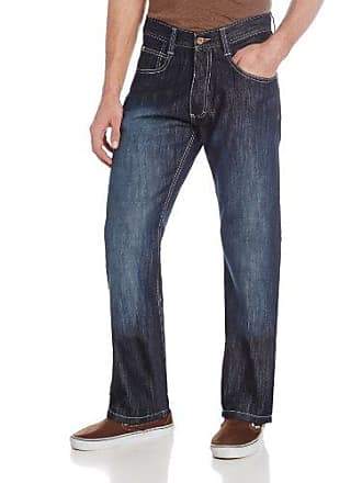 Southpole Mens 4180 Relaxed Fit ShJeany Streaky Jean, Dark S& Blue, 34X30