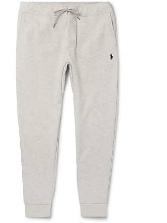 b0ac07b3b80e Polo Ralph Lauren Slim-fit Mélange Tapered Jersey Sweatpants - Light gray