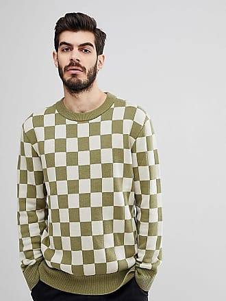 Nudie Jeans Co Elof checkerboard sweater - Green