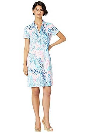 284a372c52 Lilly Pulitzer Womens UPF 50+ Sadie Polo, Crew Blue Tint Kaleidoscope Coral  Engineered Dress