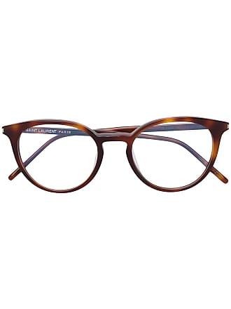 Saint Laurent Eyewear Óculos redondo - Marrom