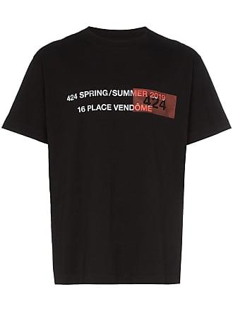 424 Camiseta com estampa Address - Preto