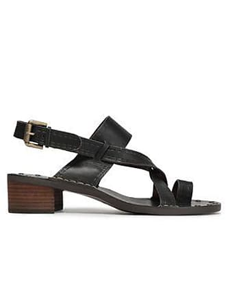 See By Chloé See By Chloé Woman Embossed Leather Slingback Sandals Black Size 37