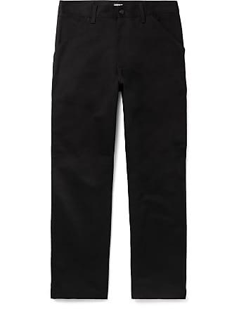 Carhartt Work in Progress Black Single Knee Wide-leg Cotton-twill Trousers - Black