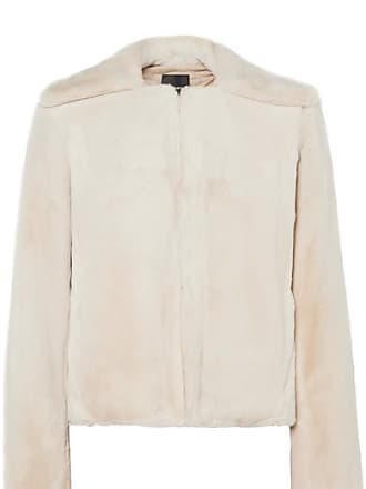 Theory Luxe Faux Fur Jacket - Sand