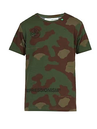 Off-white Off-white - Stencil Camouflage Cotton T Shirt - Mens - Camo