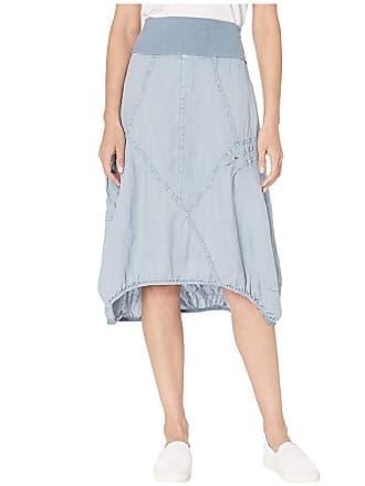 Xcvi Wearables Mini Skirt in Linen (Spry Blue Pigment) Womens Skirt