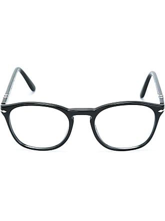 Persol Armação de óculos oval - Preto