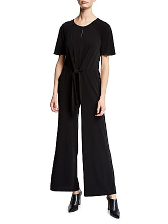 5twelve Tie-Front Scoop-Neck Wide-Leg Jumpsuit