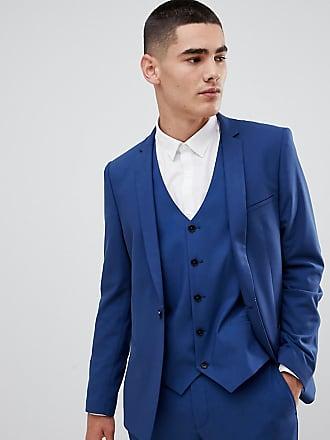 3a85afdfe1e1 Noak Giacca da abito skinny blu con scollo squadrato - Blu
