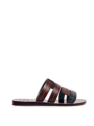 Trademark Interlock Vachetta Sandals Navy/burgundy