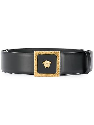 Versace Medusa square buckle belt - Black