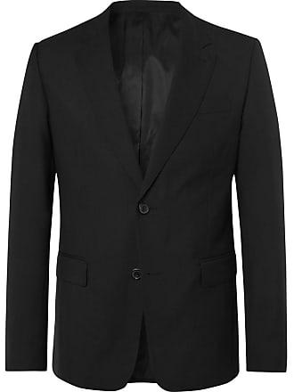 Ami Black Slim-fit Virgin Wool Suit Jacket - Black