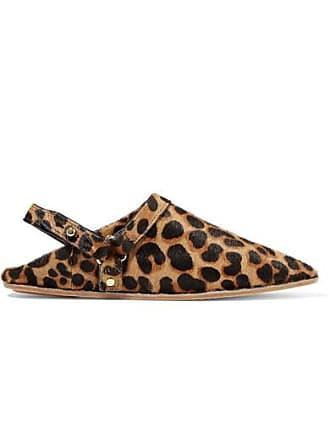 Nanushka Sao Leopard-print Calf Hair Point-toe Flats - Leopard print