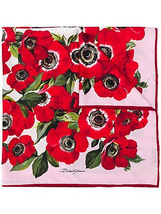 Dolce & Gabbana Lenço de cetim floral - Rosa
