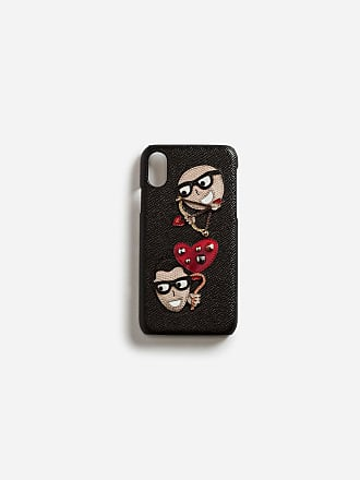 370e350a05810 Dolce   Gabbana IPHONE X COVER AUS DAUPHINE-KALBSLEDER MIT DESIGNER-PATCH