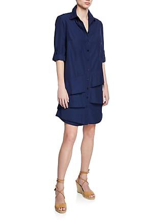 e5db3eb6961c0e Finley Petite Jenna Button-Down Roll-Tab Long-Sleeve Ruffle-Tiered  Shirtdress