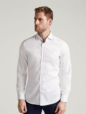 Hackett Mens Royal Slim Fit Cotton Shirt | Medium | White