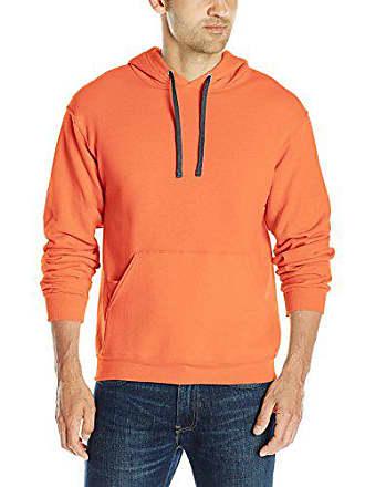 Fruit Of The Loom Mens Hooded Sweatshirt,Orange Sherbet,Medium