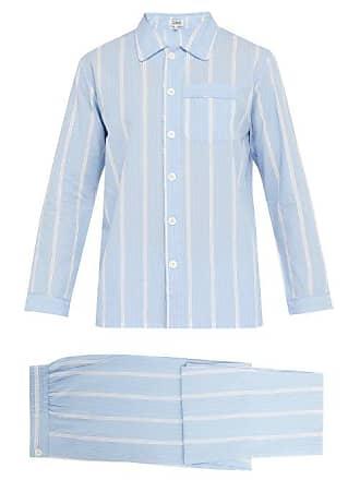 d151f5cd20 P. Le Moult Striped Cotton Pyjama Set - Mens - Blue